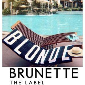 Brunette the Label Beach 'Blonde' Towel Black Pink